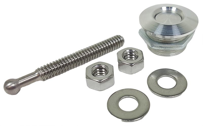 """1/"""" Brushed Mini Aluminum Push Button Latch Quic Hood or Bumper Quick Fastener"""